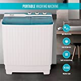 DELLA Compact Twin Tub Portable Mini Washing Machine Washer and Dryer Cycle (9KG) with Built-in Pump