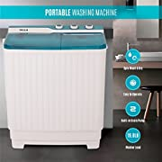 DELLA Portable Mini Compact Twin Tub Washing Machine Washer Spin Dryer Cycle (9KG) with BUILT-IN PUMP