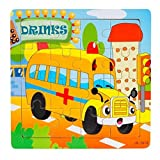 Dreaman Wooden Kids 16 Piece Jigsaw Toys Education And Learning Puzzles Toys
