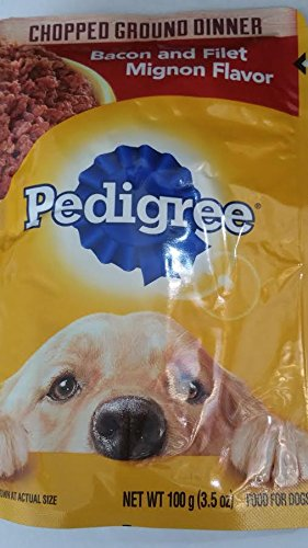4- Pedigree Chopped Ground Dinner Bacon and Filet Mignon Flavor (3.5 oz Each) Review