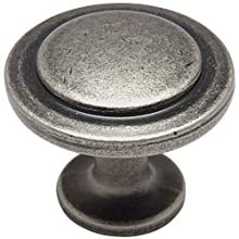 "25 Pack - Cosmas 5560WN Weathered Nickel Cabinet Hardware Round Knob - 1-1/4"" Diameter"