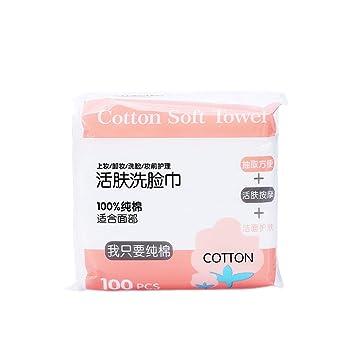 Lurrose - Toalla facial desechable de algodón para limpieza facial (100 unidades): Amazon.es: Belleza