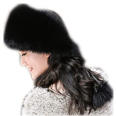 6bd0cd24ba100 MH Bailment Women s Genuine Fox Fur Hat Winter Mongolian Hats Real Skin  (S(54