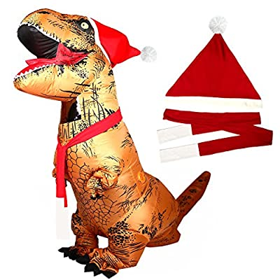 T-Rex Dinosaur Inflatable Costume Halloween Cosplay Blow up Outfit Fancy Dress