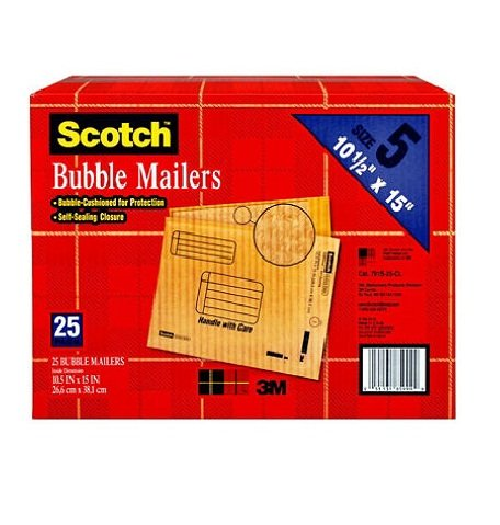 Scotch 3M Bubble Mailers Size 5 (10 1/2