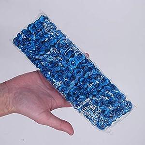 Lannmart 144pcs 1.5cm Mini Artificial Mini Paper Rose Bouquet DIY Wreath Scrapbook Wedding Ornament Artificial Rose Artificial Flower 52