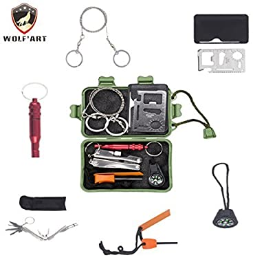 Emergency SOS Survive Tool Pack by Wolf'art for Self Help Outdoor Sport from Wolf'art