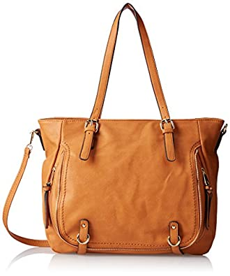 Amazon.com: MG Collection Nessa Shopper Shoulder Bag, Brown, One ...
