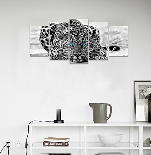 Black-and-White-Animal-Canvas-Wall-ArtAbstract-Leopard-Canvas-Prints-with-FrameAttractive-Leopard-Picture-DecorativeEasy-Hanging-OnMore-Size-Optional-16