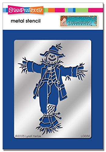 Stampendous DWLG686 Dreamweaver Stencil, Scarecrow