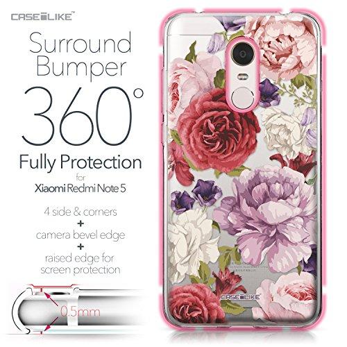 CASEiLIKE Funda Redmi Note 4 , Carcasa Xiaomi Redmi Note 4, Arte de la mandala 2094, TPU Gel silicone protectora cover Rosas mezcladas 2259