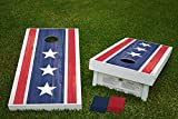Americana Distressed American US USA Flag Official Wooden Cornhole Bean Bag Toss Tailgate Game 24x48 with 8 Official 16oz Bags