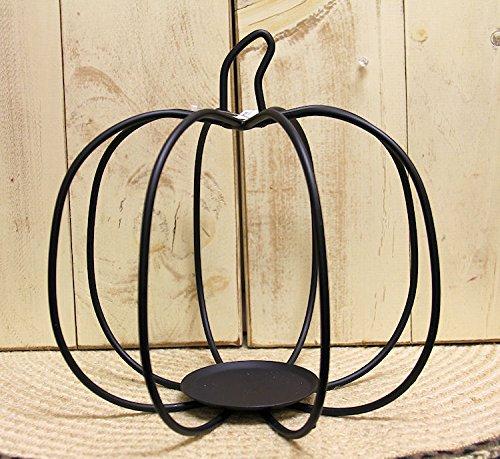 Amish Iron Large Pumpkin Candle Holder - Wrought (Wrought Iron Pumpkin)