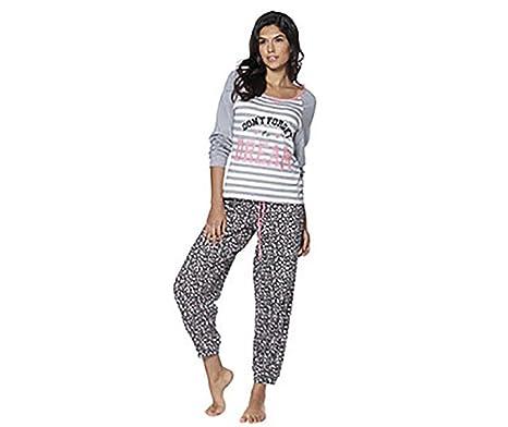 fa6b996bde Tom Franks Ladies Pyjamas Set Night Wear Sleep Winter Warm Fleecy - Beige -  Size 14 - BRAND NEW  Amazon.co.uk  Clothing