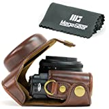 """MegaGear """"Ever Ready"""" Protective Dark Brown Leather Camera Case, Bag for Panasonic Lumix Lx7"""