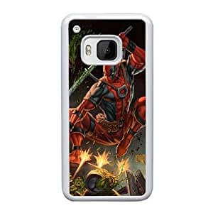 HTC One M9 Cell Phone Case White Deadpool AS7YD3575731