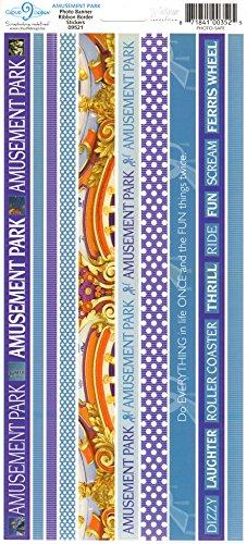 Amusment Park Photo Banner Ribbon Border Cardstock Scrapbook Stickers (Cloud 9 Design Photo Banner)