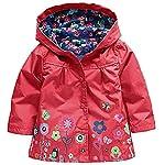 Sweety, Toddler Girl Hooded Jacket Lightweight Autumn Flower Apple Butterfly