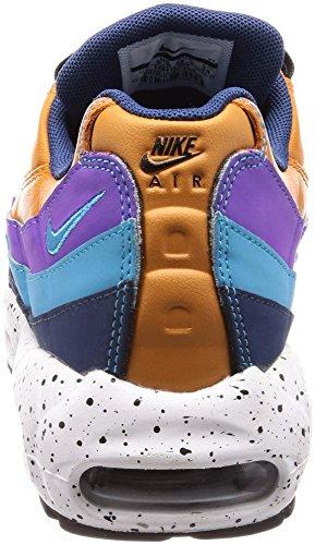 Nike Air Max 95 Premium Mega Blue Da Uomo In Pelle Multicolor 538416-800