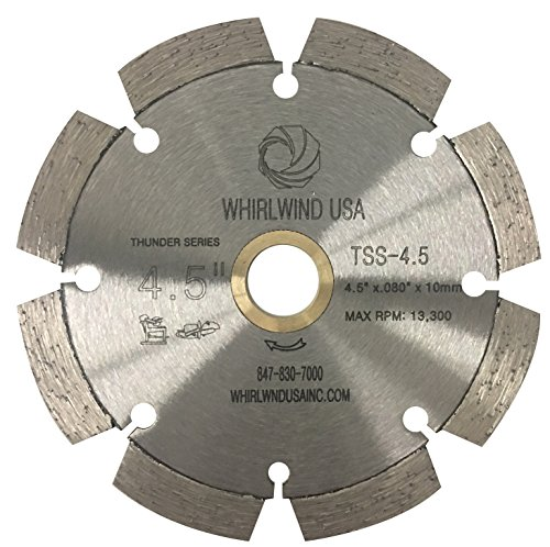 Whirlwind USA TSS 4-1/2-Inch Laser Welded Dry or Wet Cutting General Purpose Standard Power Saw Segmented Diamond Blades for Cutting Concrete and Masonry (Factory Direct Sale) (4.5