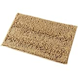 Mayshine 20x32 inch Non-slip Bathroom Rug Shag Shower Mat Machine-washable Bath mats with Water Absorbent Soft Microfibers of - Beige