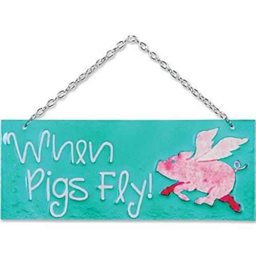 [Premier Kites 81136 Glass Expression Hanging Banner, When Pigs Fly] (Fly Costumes)