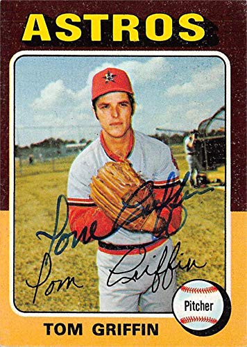 Tom Griffin autographed Baseball Card (Houston Astros) 1975 Topps #188 - Baseball Slabbed Autographed Cards