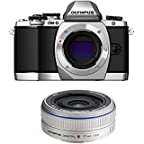 Olympus OM-D E-M10 Mirrorless Digital Camera (Silver) Body only V207020SU000 + Olympus M.Zuiko 17mm Lens (Silver) 261502
