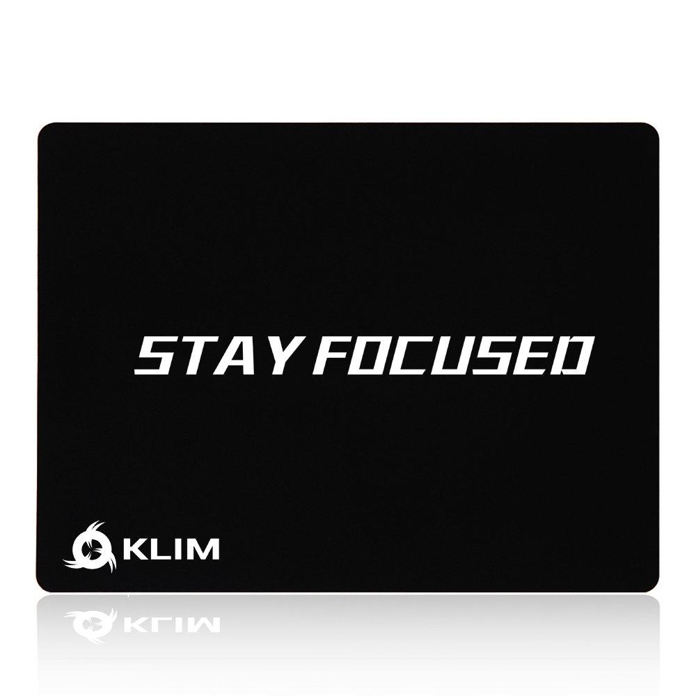 KLIM I Carry Mousepad Tappetino di Alta Qualità - Antiscivolo – Estremamente Liscio - Durevole – Precisione Perfetta Progettato per Gaming Gioco Videogiochi - 32 x 27 x 0, 3cm [ Nuova 2019 Versione ] 207376