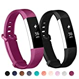 Adepoy Fitbit Alta Bands and Alta HR Bands, Newest Adjustable Replacement Wristband for Fitbit Alta HR and Fitbit Alta with Secure Metal Clasp