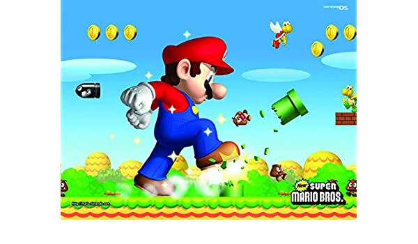 Amazon Com Super Mario Birthday Backdrop For Kids 7x5ft Seamless Photo Background Newborn Boy 1st Birthday Party Decorations Cartoon Backdrops For Photobooth