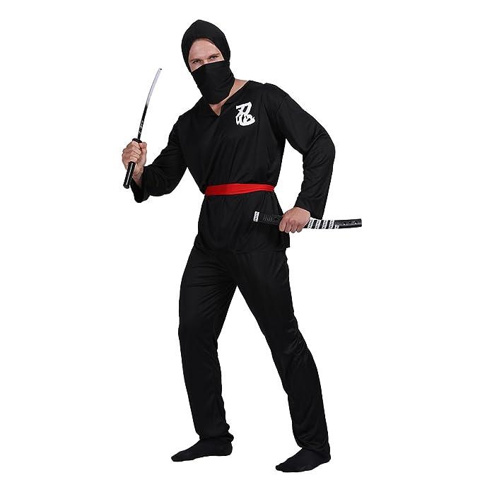EraSpooky Ninja Hombre Guerrero Disfraz: Amazon.es: Ropa y ...