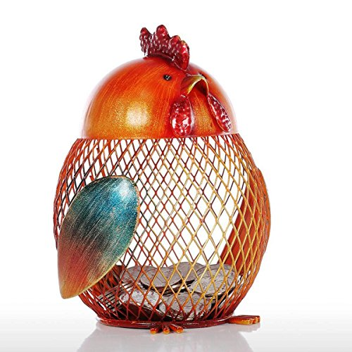 [Coin Box Iron Sculpture Piggy Bank Metal Craft Animal Figurine Home Decor Gift Storage Tank Gift 4.1 5.1] (Costume Design For Rabbit Hole)