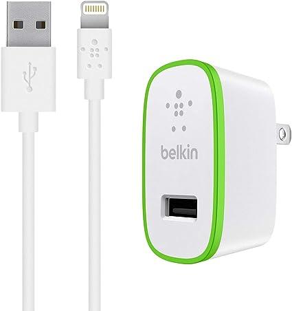 Amazon.com: Belkin - Cargador de pared para iPhone 7/Plus/6 ...