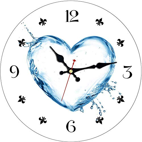 MEISTAR Modern Romantic Fresh Style Silent Non-ticking Decorative Wall Clocks Bedroom living Room Round 16-inch Quartz Movement Wooden Wall Clock
