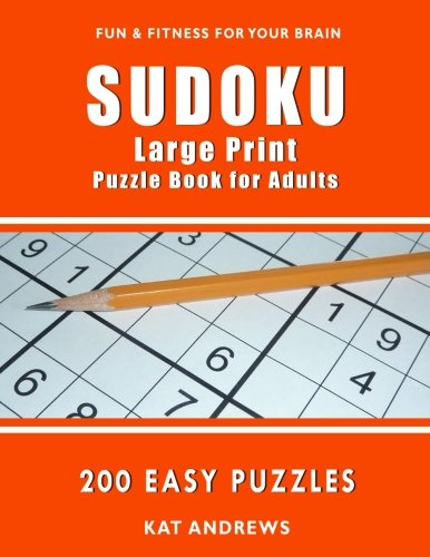 SUDOKU Large Print Puzzle Book for Adults: 200 Easy Puzzles