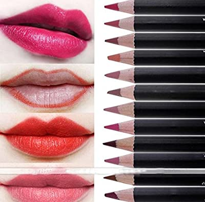 Morecome 12 Colors Set Makeup Matte Lipstick Gloss Pencil Long Lasting Lipstick