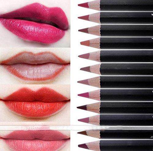 Morecome 12 Colors Set Makeup Matte Lipstick Gloss Pencil Lo