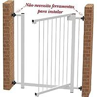 Portão Grade de Segurança para vãos de 70 cm Branco Multiforma