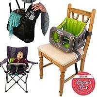 Airtushi - Inflable portátil de alta silla de bebé Booster