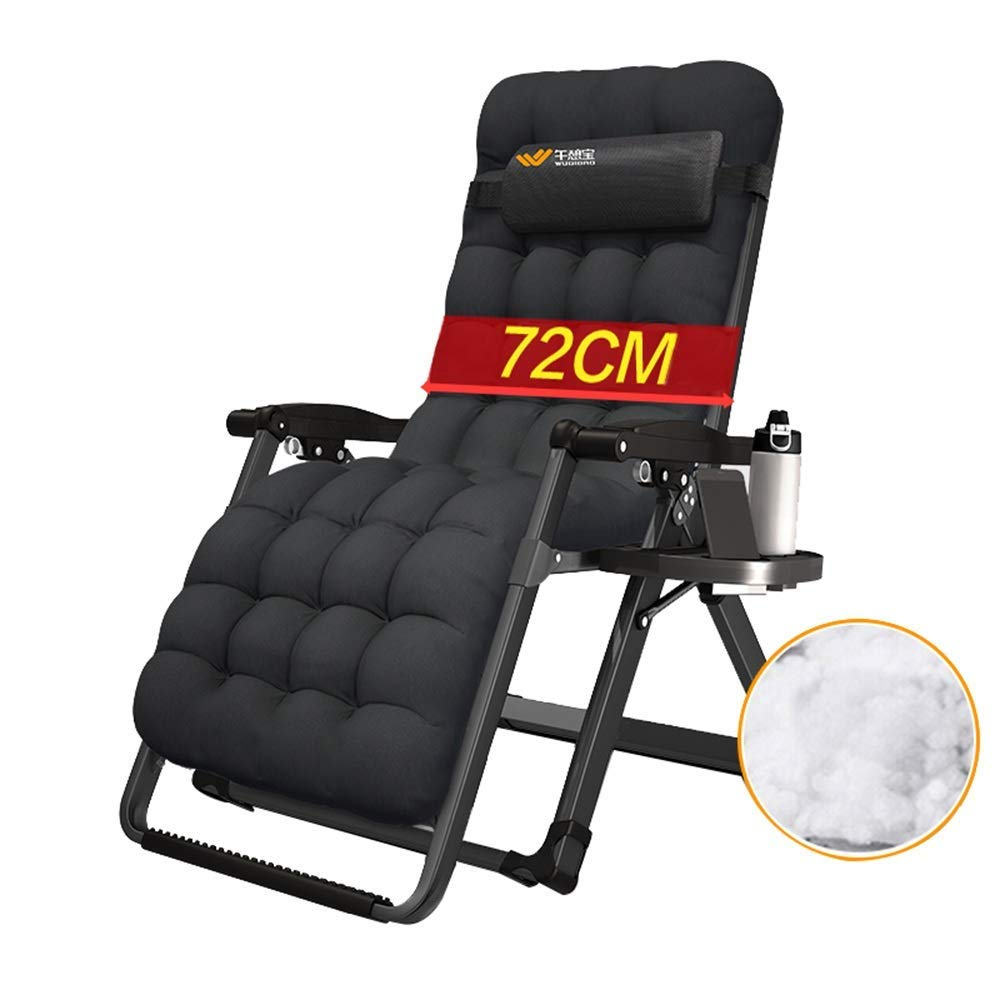 A Rocking Lounger Zero Gravity Recliner Garden Sun Lounger Chair with Adjustable Removable Headrest and Practical Cup Holder Portable Folding Reclining Chair,A