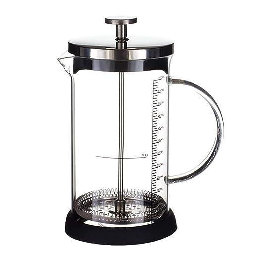 Househome cafetera de émbolo, cafetera Prensa Francesa de Cristal con Filtro – Tarro para café y Tetera, a, 600ml