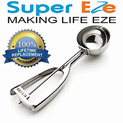 SuperEze Ice Cream & Cookie Dough Scoop made from Stainless Steel