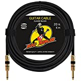 RIG NINJA GUITAR CABLE for Serious Musicians, Premium Electric Guitar Amp Cord for a Clean Tone to the Amplifier, Durable Instrument Cables, Great Signal Transmission, Low Noise Guitars & Bass Cords