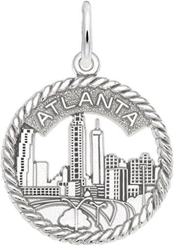 Rembrandt Atlanta Skyline Open Rope Charm - Metal - Sterling Silver