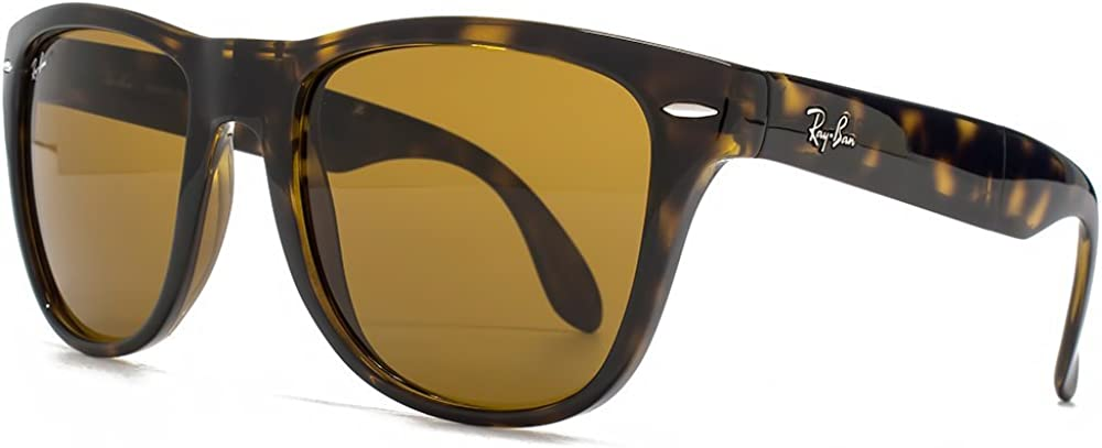 TALLA Talla única. Ray-Ban Gafas de sol Wayfarer plegable en Light Havana Crystal Brown RB4105 710 54