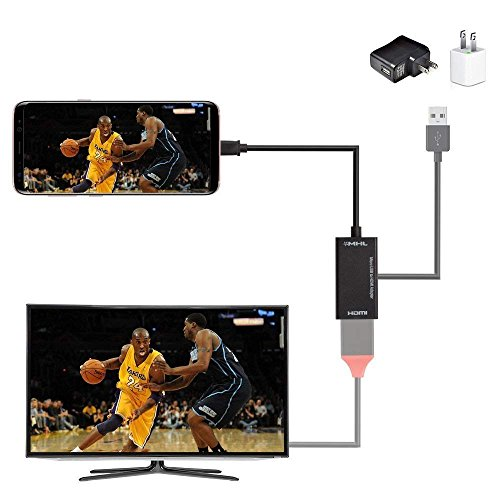 MHL to HDMI Converter Android Tablets, Micro USB to HDMI HDTV Converter 1080P Compatible Samsung Galaxy S3 S4 S5 Note 2 Tab3 (Black-1) by SaleWard (Image #4)