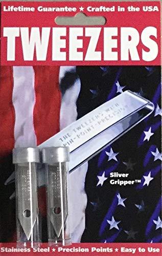 2 Pack Uncle Bill's 19074 Sliver Gripper Tweezers