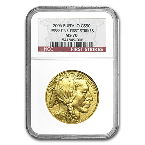 (2006 1 oz Gold Buffalo MS-70 NGC (First Strikes) 1 OZ MS-70 NGC)