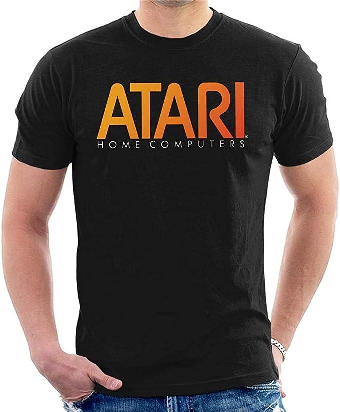 Atari 2600 Console Logo Mens Grey T-Shirt